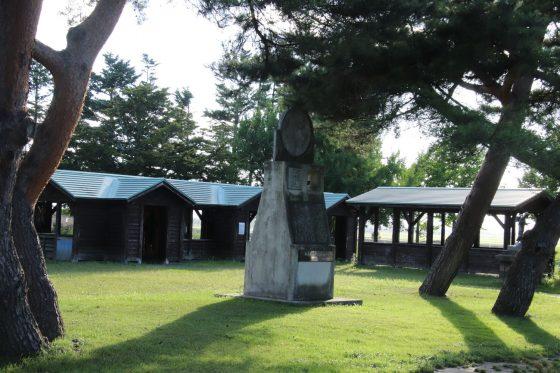長沼町の道の駅「マオイの丘」で発見した松浦武史郎の記念碑